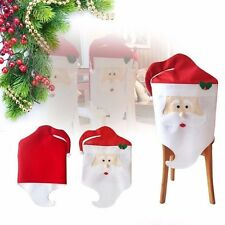 Santa Clause Hat Chair Back Covers Christmas Dinner Table Party Decor Gift in UK