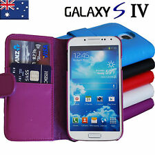 Premium Flip Wallet leather Case Cover for Samsung Galaxy S4 SIV i9500 i9505 4G