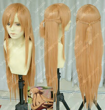 New Sword Art Online Asuna Yuuki Braid Cosplay Wig A5