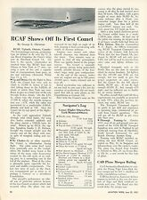 1953 Aviation Article Royal Canadian Air Force First Flight de Havilland Comet 1