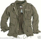 SURPLUS M65 REGIMENT JACKET VINTAGE MILITARY STYLE + QUILTED FLEECE LINER OLIVE
