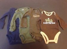 Lot Of 4 Carter's Newborn Boys Long Sleeved Onesies