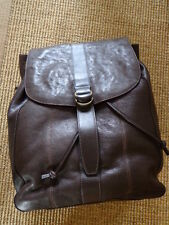 NWT John Varvatos Star USA Milano Leather Packpack Brown
