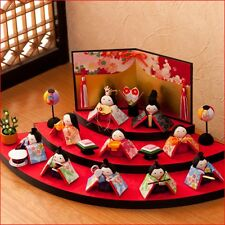 Set of Hina ningyo 3stageJapanese Chirimen traditional doll lovely!