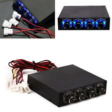New 3.5inch PC HDD CPU 4 Channel Fan Speed Controller LED Cooling Front Panel