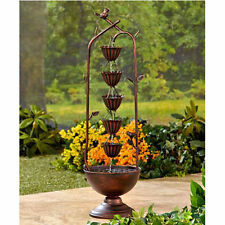 Small Water Fountains Outdoor Backyard Patio Front Porch Lawn Home Garden Decor