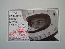 advertising Pubblicità 1977 CASCO LEM e JOHNNY CECOTTO