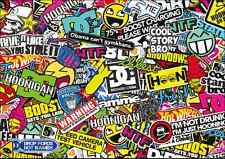 3 x A3 Sticker Bomb Sheet - JDM EURO DRIFT VW - Design 302 - (297MM x 420MM)