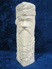 Ready to Paint Ceramic Bisque Santa Totem, unpainted; U-paint