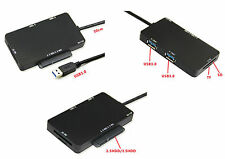 Convertisseur SATA (15+7 points) vers USB 3.0 + HUB + Lecteur SD MicroSD