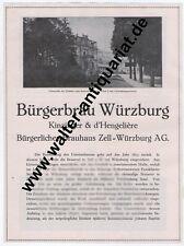 Bürgerbräu Würzburg cervecería 2 páginas publicitarias de 1927 cervezas Baviera Brewery Beer