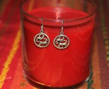 Sterling Silver Jewelry Snake Circle coiled Earrings Dangling Vintage new Unique