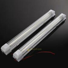 2X 12V 4.5W 72 LED Interior Light Strip Bar Car Van Bus Caravan ON/OFF Switch