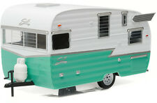 1:24 GREEN WHITE SHASTA AIRFLYTE GREENLIGHT COLLECTIBLES DIE-CAST TRAILER CAMPER