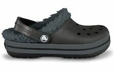 Crocband Mammoth Black/Graphite Lined Crocs Little Boys  Size 12/13