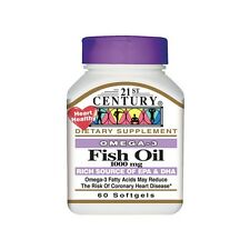 OMEGA-3 FISH OIL 1000mg RICH SOURCE OF EPA & DHA DIETARY SUPPLEMENT 60 SOFTGELS
