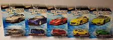 5x Hot Wheels Speed Machines Ferrari  / Tesla / Lamborghini NEU / OVP