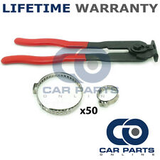 CAR ATV FITS 99% OF VEHICLES CV BOOT CLAMPS PAIR X 50 & EAR PLIERS