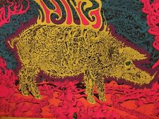 Psychedelic Pig Vintage Blacklight Poster Pin-up Joe Roberts Jr. 1960's Headshop