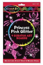 Melissa and Doug Princess Pink Glitter Scratch Art Boards 5810 NEW