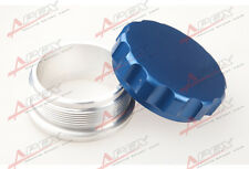"2"" 50.8mm Aluminium Alloy Weld On Filler Neck And Cap Oil, Fuel, Water Tank Blue"