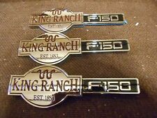 FORD F-150 KING RANCH FRONT FENDER AND TAILGATE EMBLEMS 3 PIECE SET NEW SET