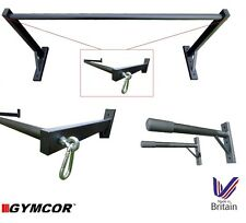 GYMCOR WALL MOUNTED TRIPLE PACK - DIP BARS & PULL UP BAR & TRX PUNCH BAG MOUNTS