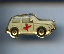 RARE PINS PIN'S .. AUTO AMBULANCE MEDICAL CAR SAMU CROIX ROUGE HERAULT 34 ~W1