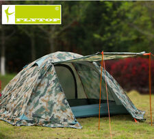 Camouflage Outdoor Camping Travelling 2 layer Tent 2 persons 4 Season Snow Skirt