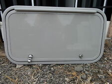 "New 26"" x 14"" RV Camper Fifth Wheel Storage Cargo Hatch Door Challenger Gray"