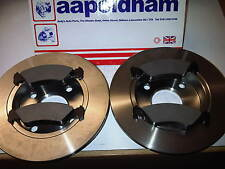 FORD FIESTA & KA 1.0 1.25 1.3 1.4 1.8D NEW SOLID FRONT BRAKE DISCS  & PADS 95-02