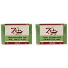 ZEN Sapone Sbiancante Papaya Cellactive pk2 riduce le macchie dell'età della pigmentazione