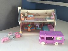 Vintage 1994 Galoob Toys My Pretty Dollhouse 11Pc Lot Polly Pocket Stable on Go