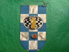 USSR Soviet Latvia Chess International Tournament  Jurmala-78 Banner+Pin Badge
