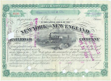 USA Amerika New York and New England Railroad alte Aktie 1893 Eisenbahn deko