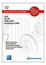 Bentley Audi A5, S5: 2008-2009; A4: 2009 Service Repair Manual on DVD (AB88) New