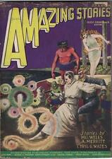 Amazing Stories- June, 1927- Vintage pulp in nice shape! H.G. Wells, cool art