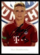 Max Dombrowka Autogrammkarte Bayern München II 2011-12 Original Signiert