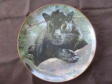 """Limited Edition Wildlife Collector Plate """"Silent Watch"""" from The Franklin Mint"""