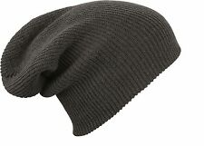 MB Oversized Slouch Beanie Hat Cap 6 Colours Mens Ladies Knitted Woolly Winter