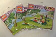 3-Lego Friends New Sealed in Bag 33pc.Mia Picnic Set-#30108