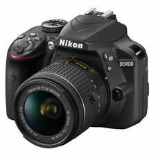 New Nikon D3400 Digital SLR Camera 24.2 MP with 18-55mm VR Lens Kit Black Color