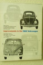 1962 VW VOLKSWAGEN IMPROVEMENTS US DEALER SALES ORDER SHEET BK3V