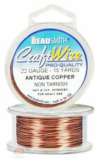 Antique Copper 22GA  Craft Wire Jewelry Beading Wrapping 15 Yds 13.7 Meters