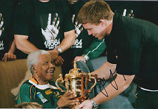 John SMIT Hand Signed Autograph 12x8 Photo AFTAL COA with Nelson Mandela