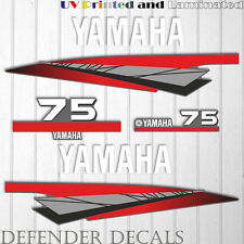 Yamaha 75 HP Two 2 Stroke outboard engine sticker decal kit reproduction 75HP