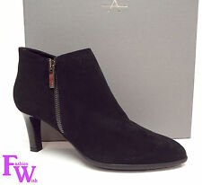 New AQUATALIA Size 8.5 DINA Black Suede Waterproof Ankle Boots Shoes 8 1/2