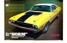 1970 DODGE CHALLENGER R/T 440-6 / MR NORM ~ NICE 5-PAGE ARTICLE / AD