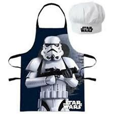 Disney Star Wars-Petit Chef-Para Niños-Delantal + Gorro De Chef Set