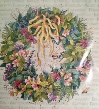 BUCILLA Counted Cross Stitch Herb Wreath 14 x 14 Vintage Pattern *NEW*